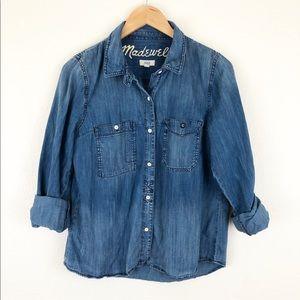Madewell Chambray Denim Button Down Shirt